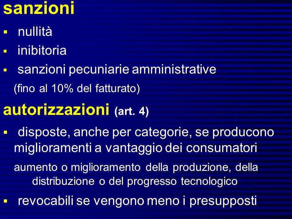 sanzioni autorizzazioni (art. 4) nullità