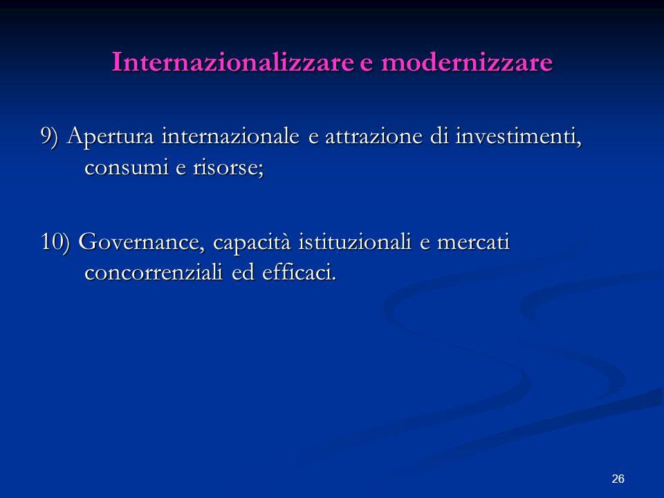 Internazionalizzare e modernizzare