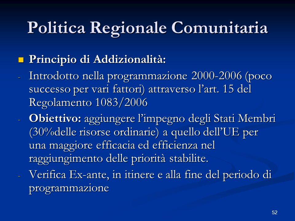 Politica Regionale Comunitaria