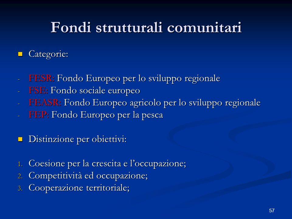 Fondi strutturali comunitari