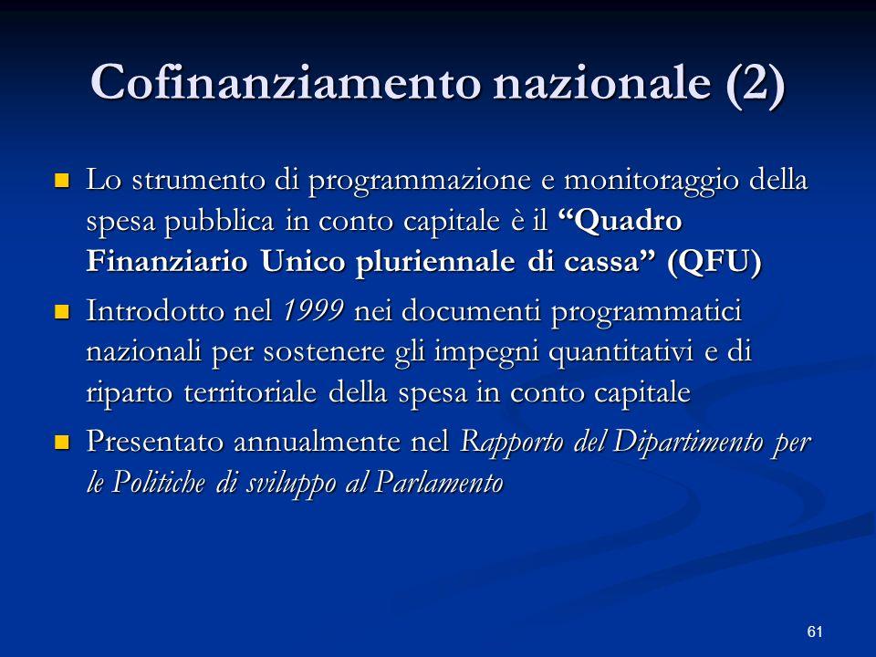 Cofinanziamento nazionale (2)