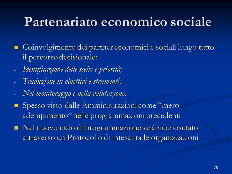Partenariato economico sociale