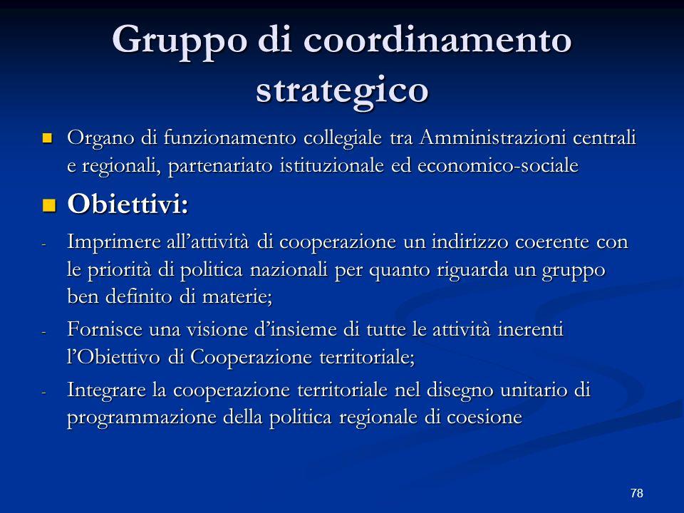 Gruppo di coordinamento strategico
