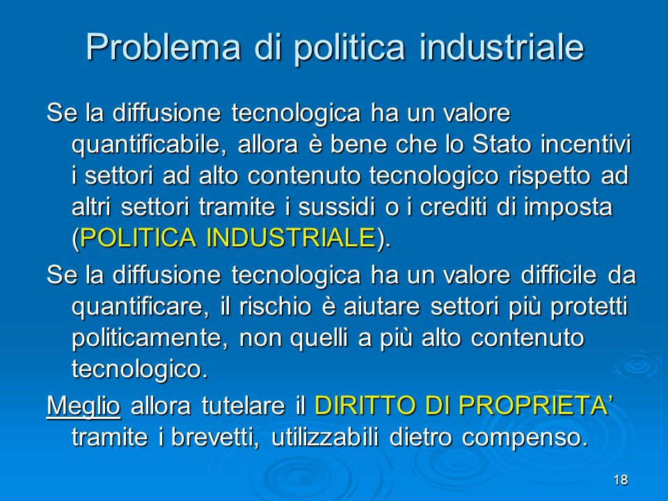 Problema di politica industriale