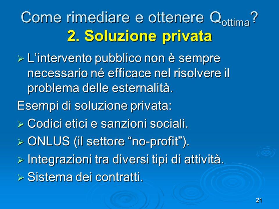 Come rimediare e ottenere Qottima 2. Soluzione privata