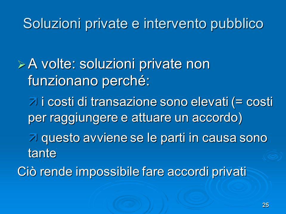 Soluzioni private e intervento pubblico