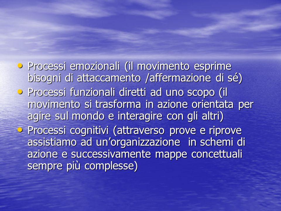 Processi emozionali (il movimento esprime bisogni di attaccamento /affermazione di sé)