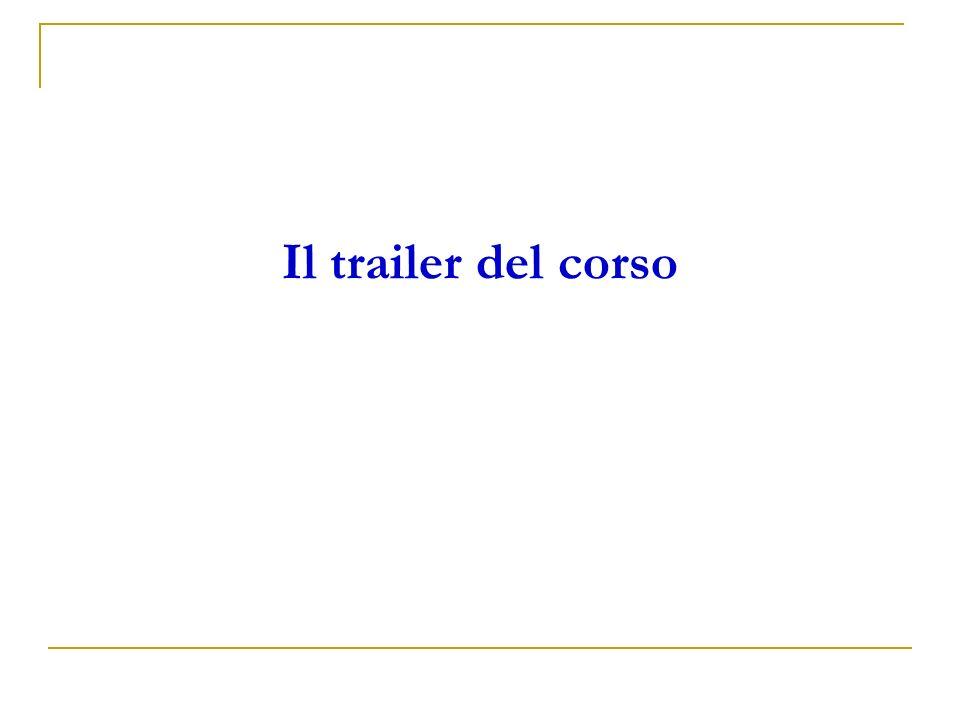Il trailer del corso