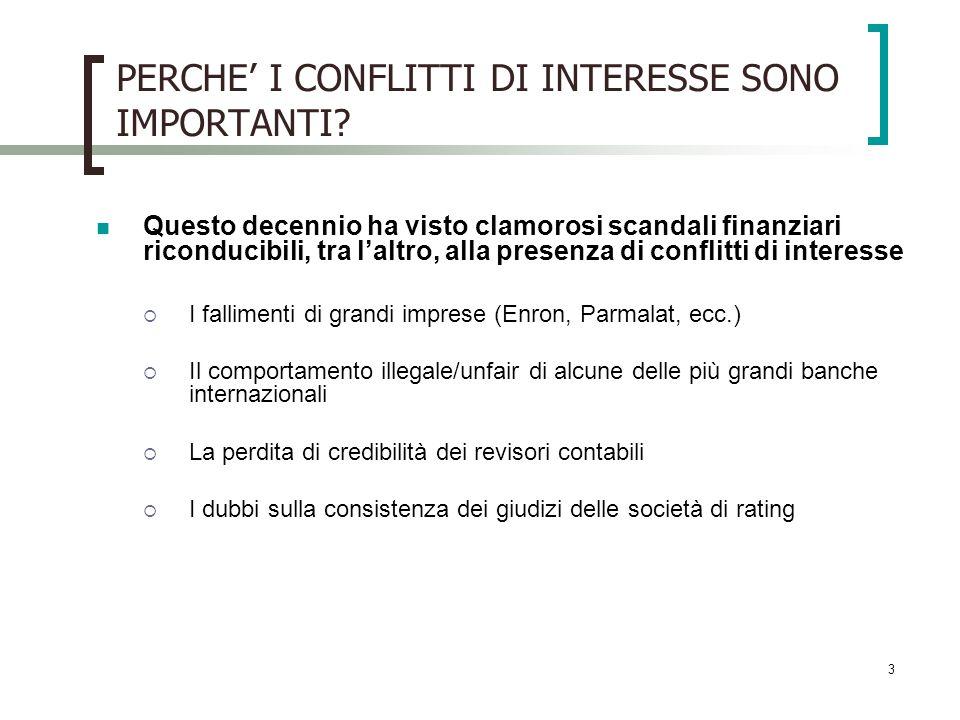PERCHE' I CONFLITTI DI INTERESSE SONO IMPORTANTI
