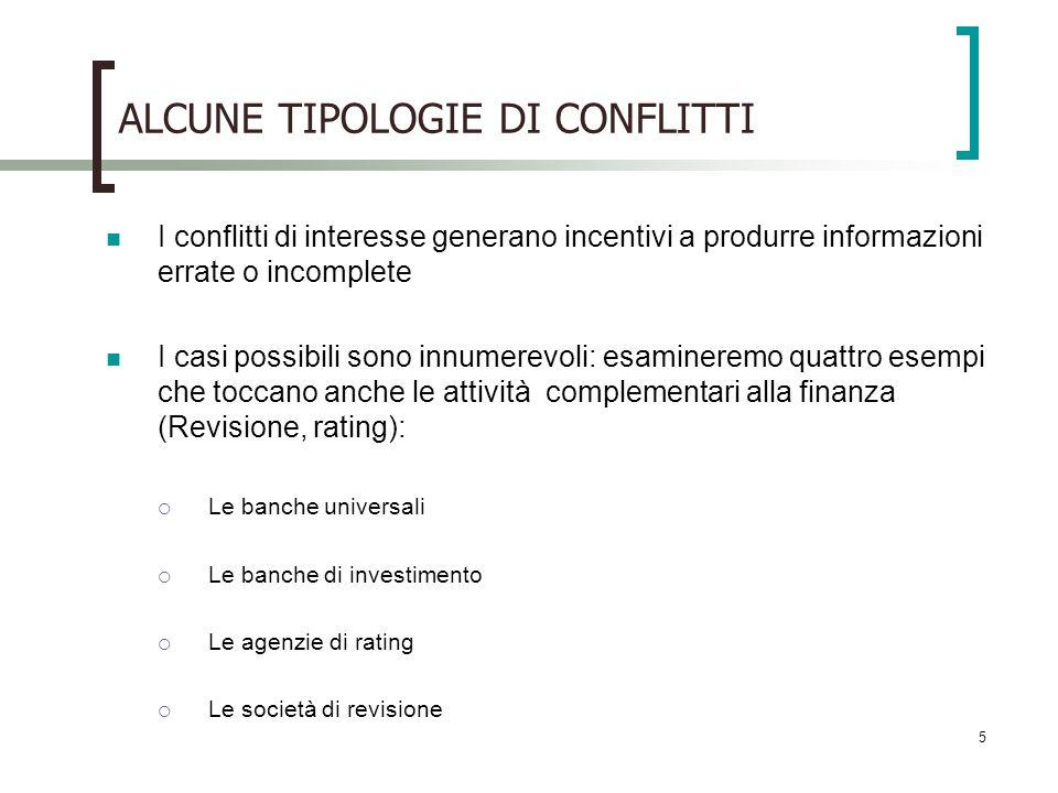 ALCUNE TIPOLOGIE DI CONFLITTI