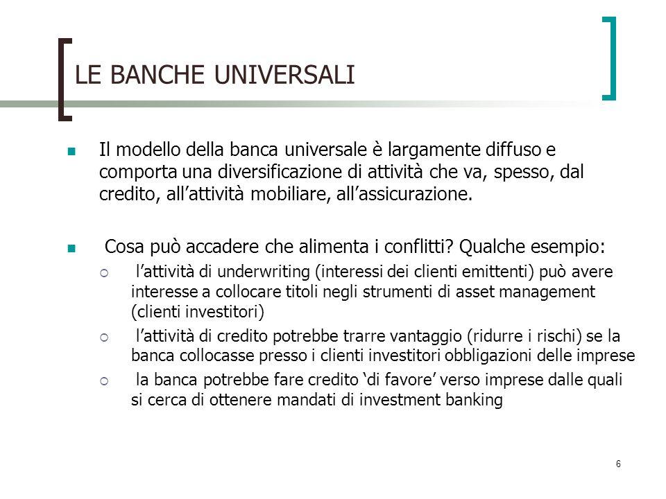 LE BANCHE UNIVERSALI