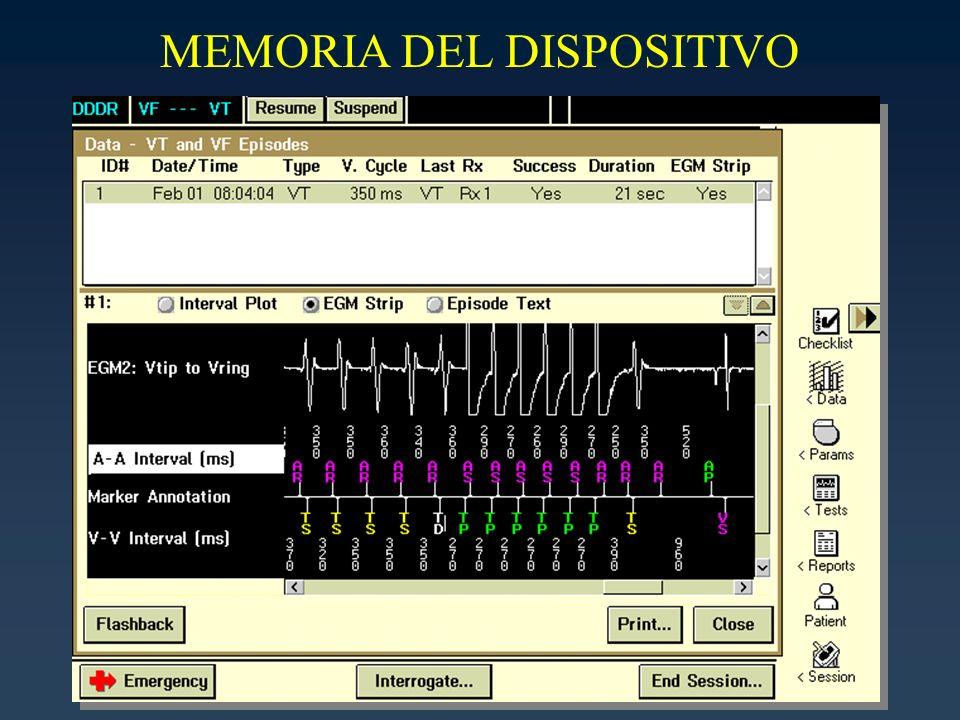 MEMORIA DEL DISPOSITIVO
