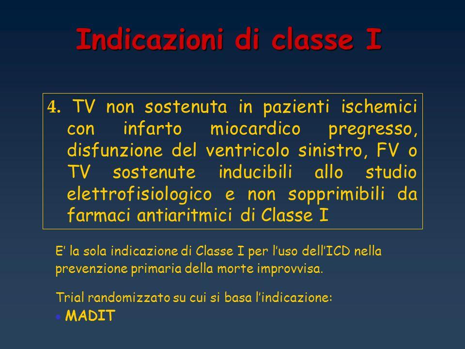 Indicazioni di classe I