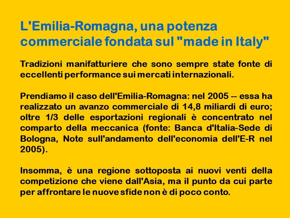 L Emilia-Romagna, una potenza commerciale fondata sul made in Italy