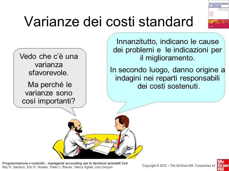 Varianze dei costi standard