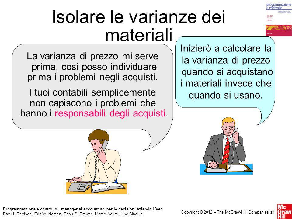 Isolare le varianze dei materiali