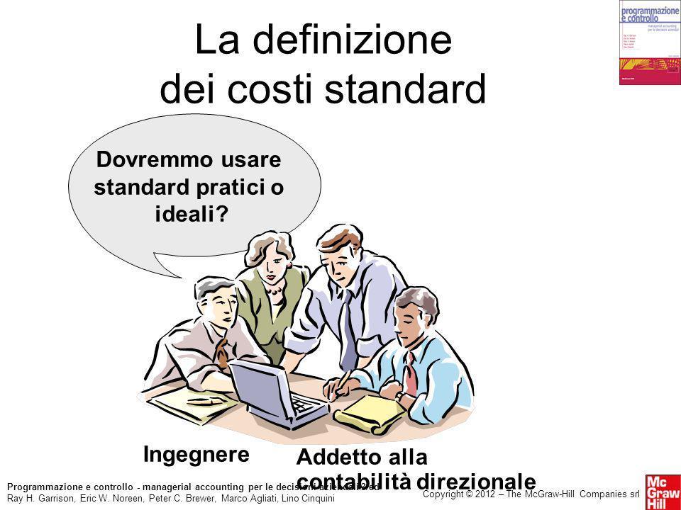 La definizione dei costi standard