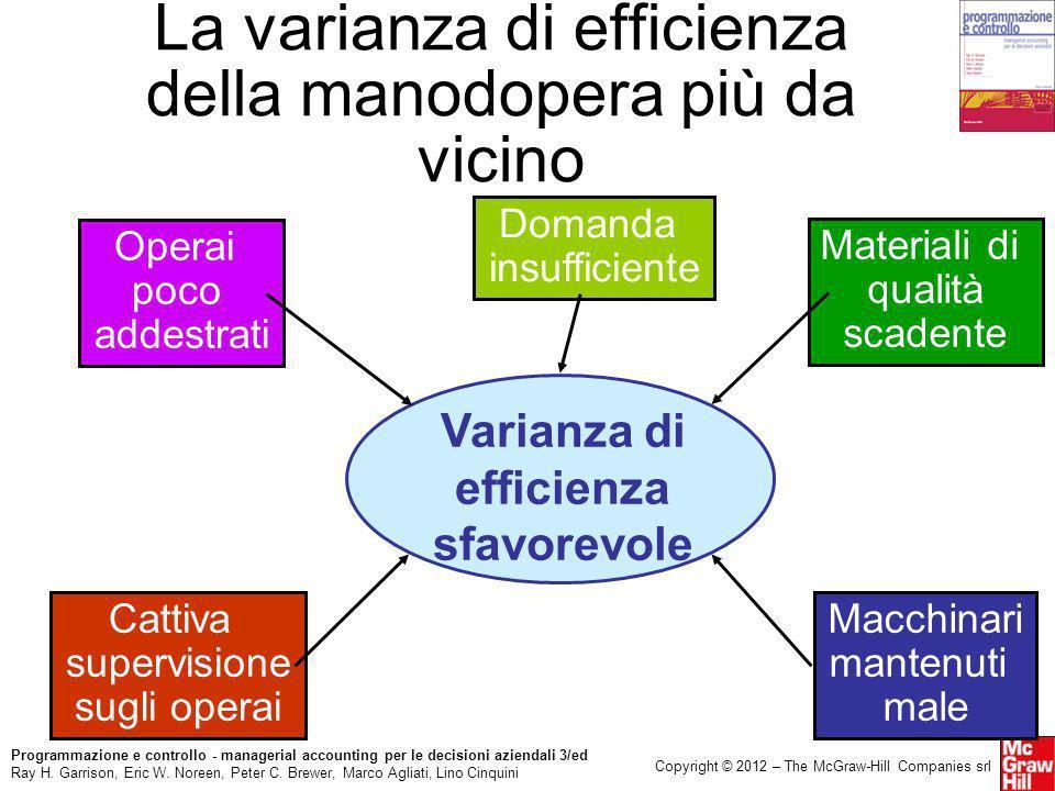 La varianza di efficienza della manodopera più da vicino