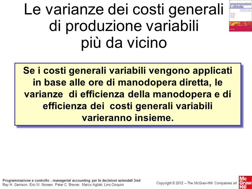 Le varianze dei costi generali di produzione variabili più da vicino