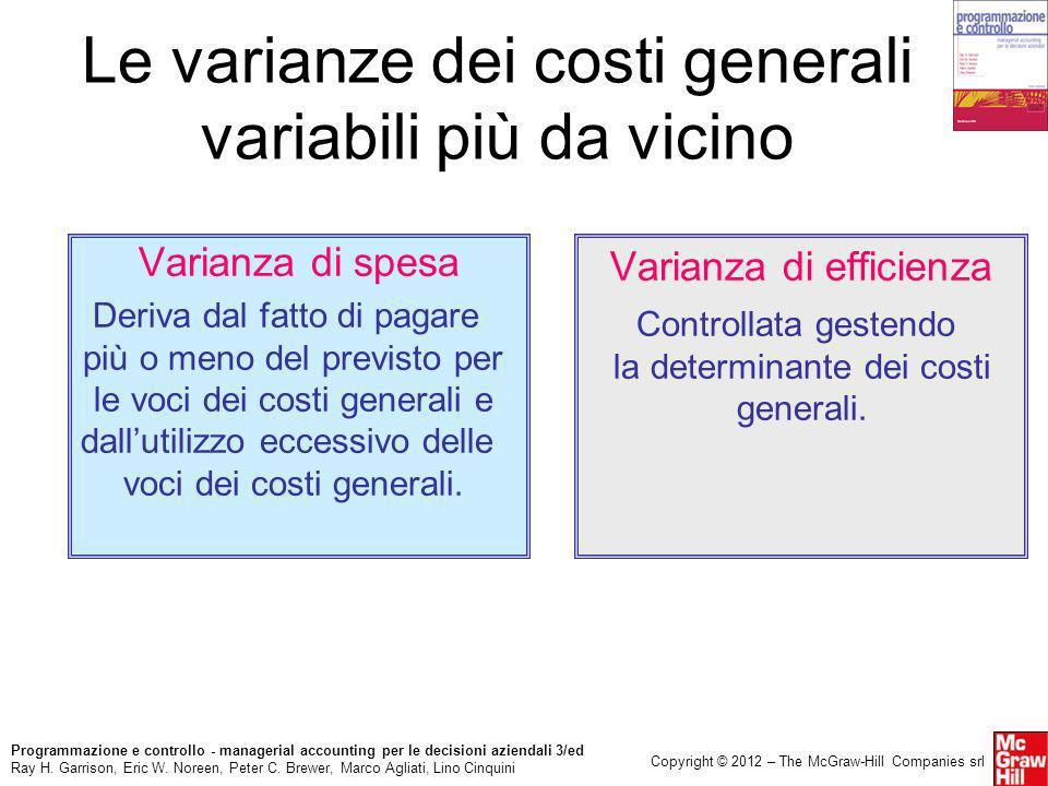 Le varianze dei costi generali variabili più da vicino