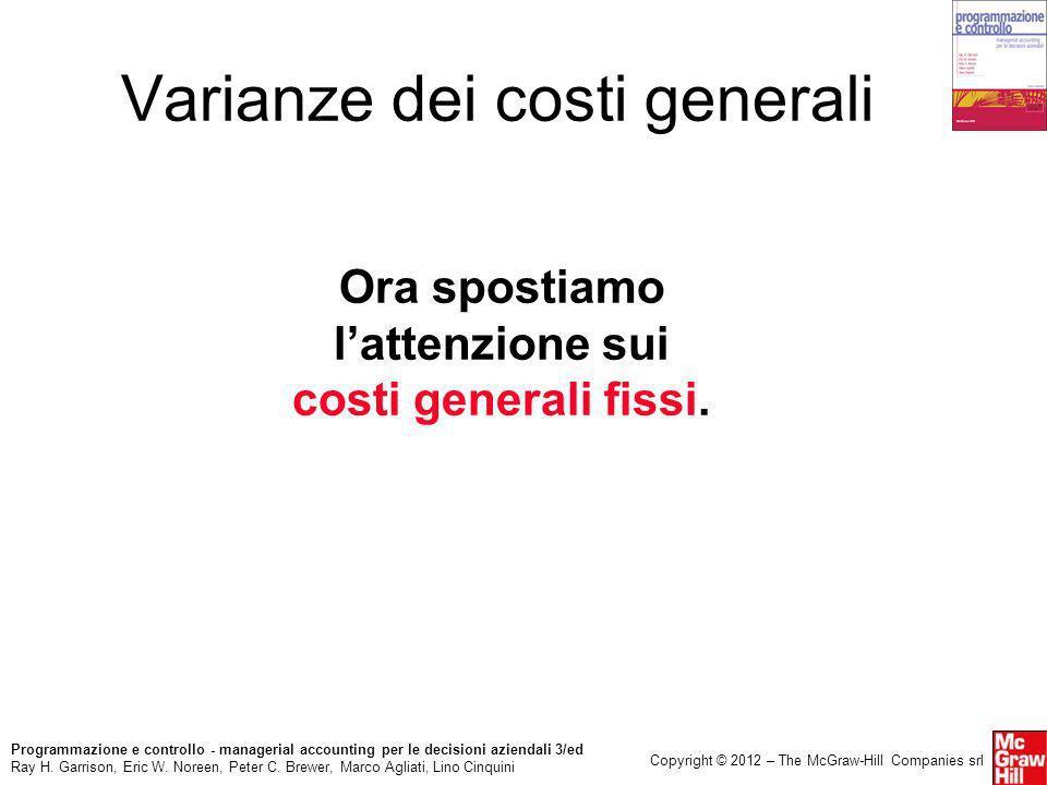 Varianze dei costi generali