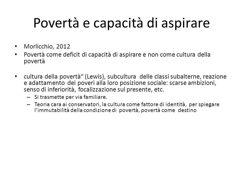 Povertà e capacità di aspirare