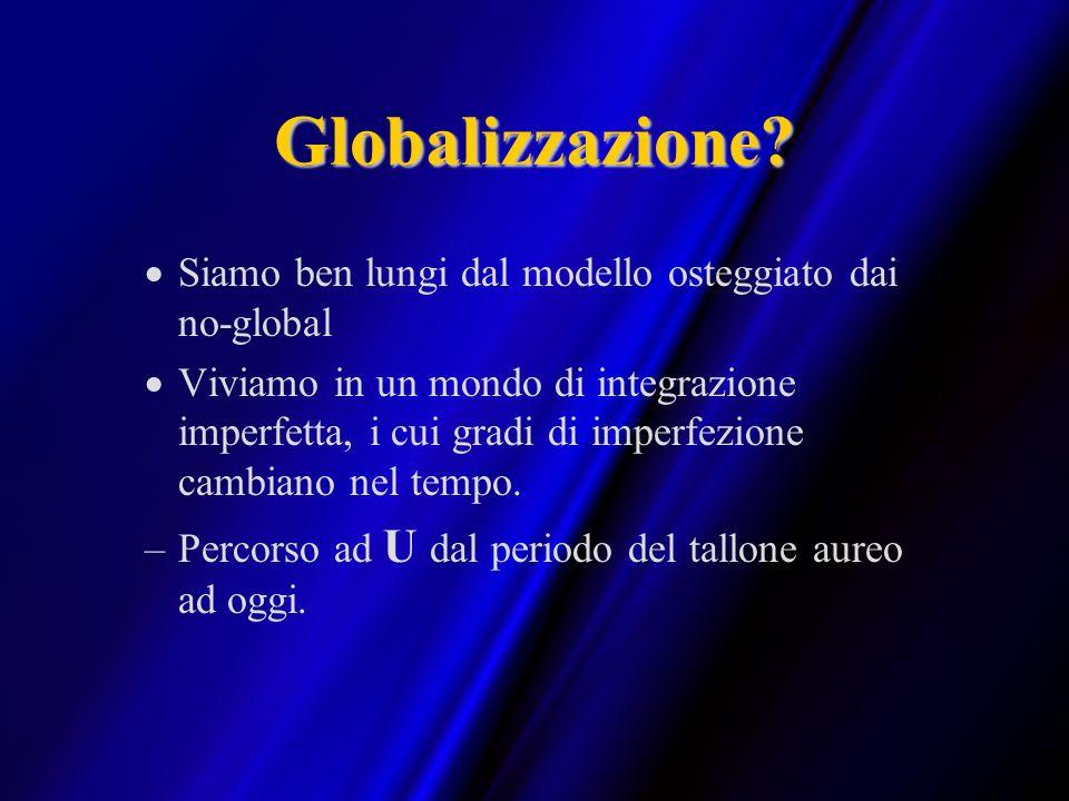 Globalizzazione Siamo ben lungi dal modello osteggiato dai no-global