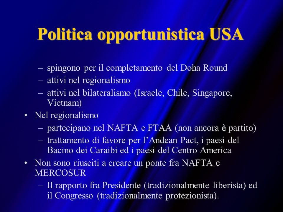 Politica opportunistica USA