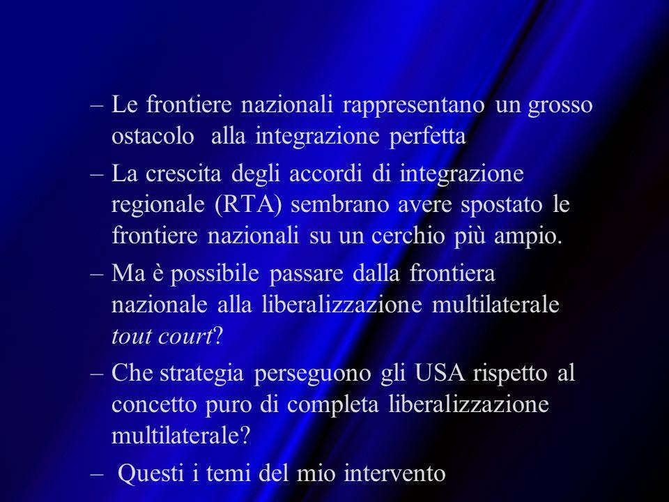 Le frontiere nazionali rappresentano un grosso ostacolo alla integrazione perfetta