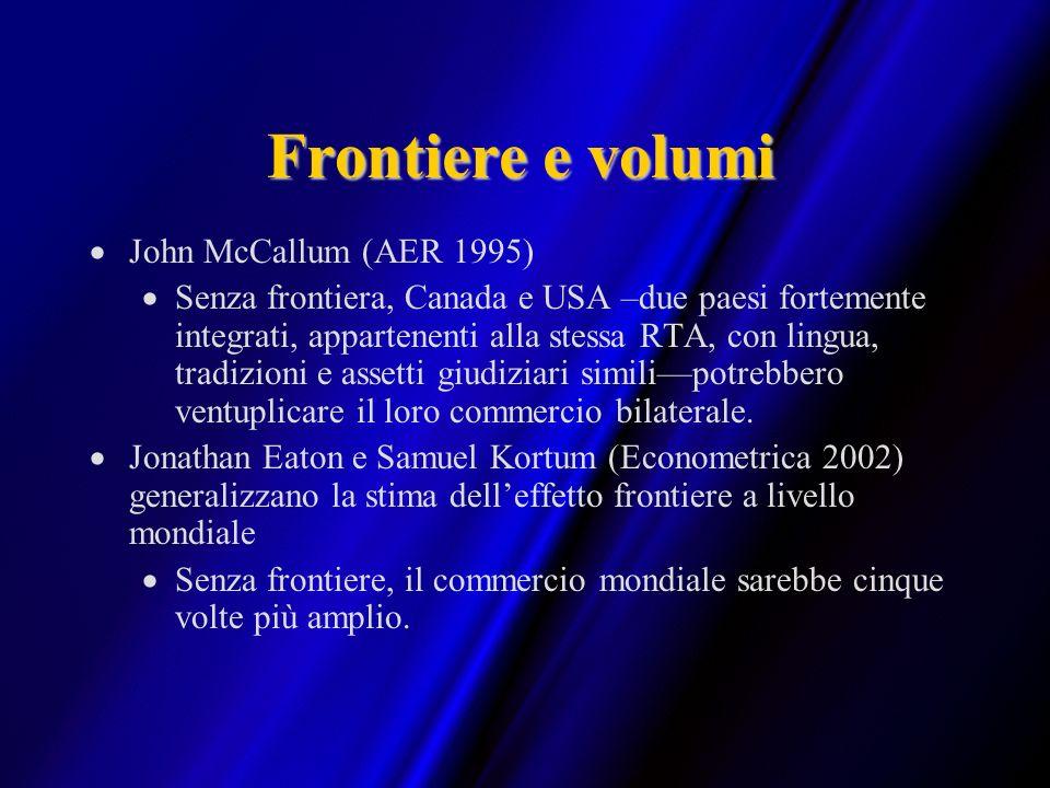 Frontiere e volumi John McCallum (AER 1995)