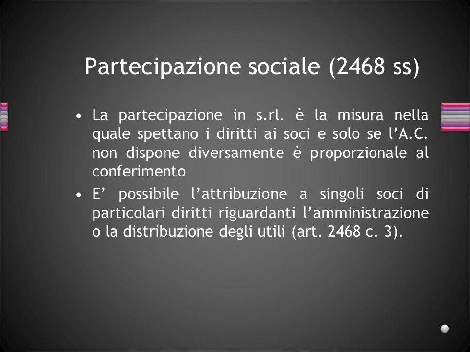 Partecipazione sociale (2468 ss)