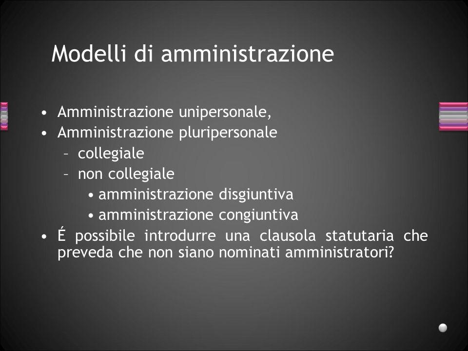 Modelli di amministrazione