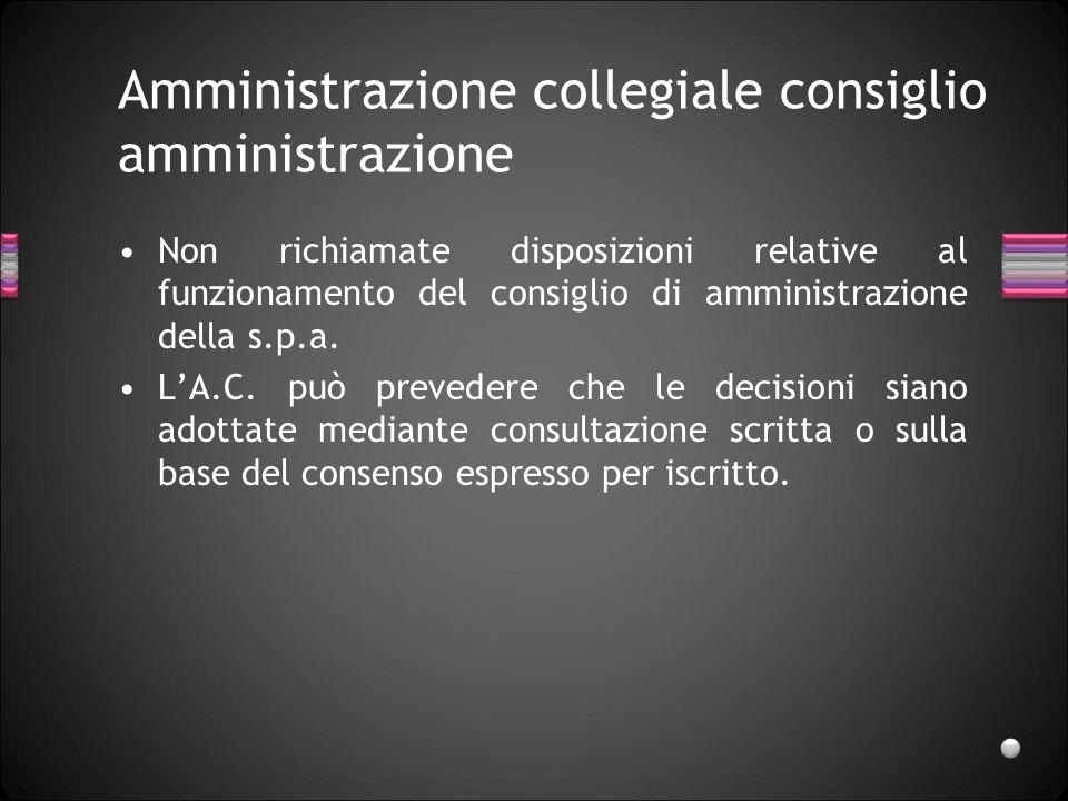 Amministrazione collegiale consiglio amministrazione