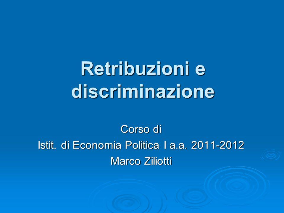 Retribuzioni e discriminazione