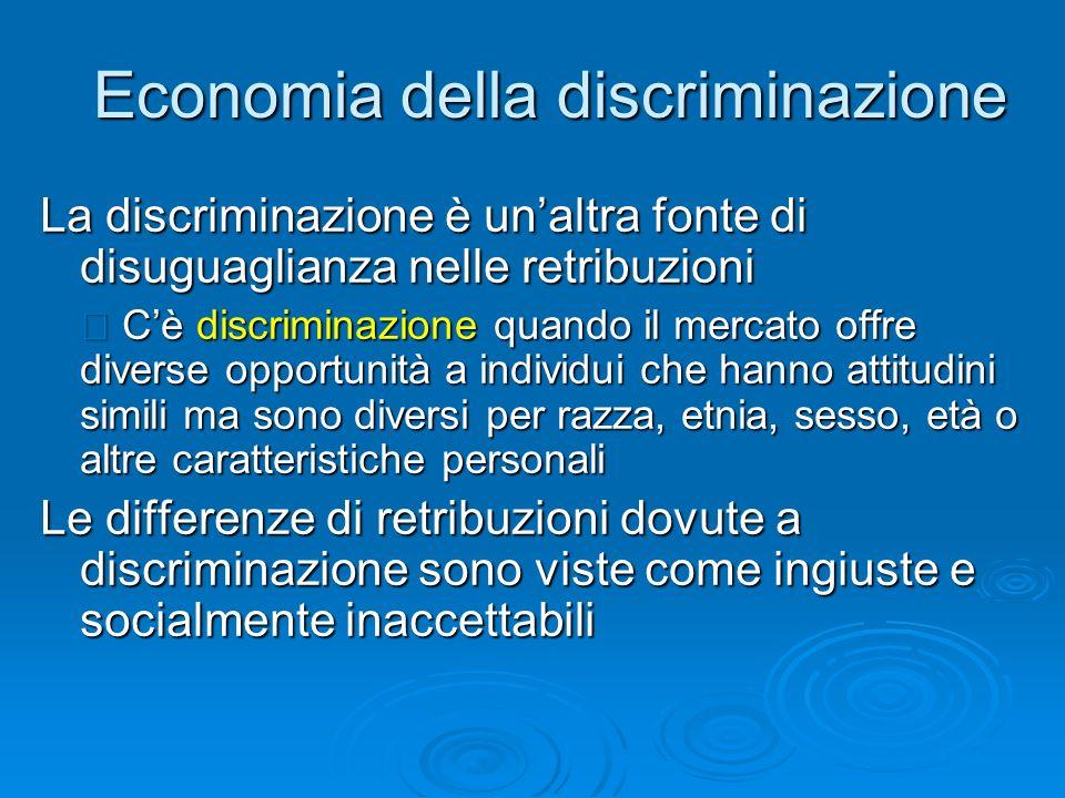 Economia della discriminazione
