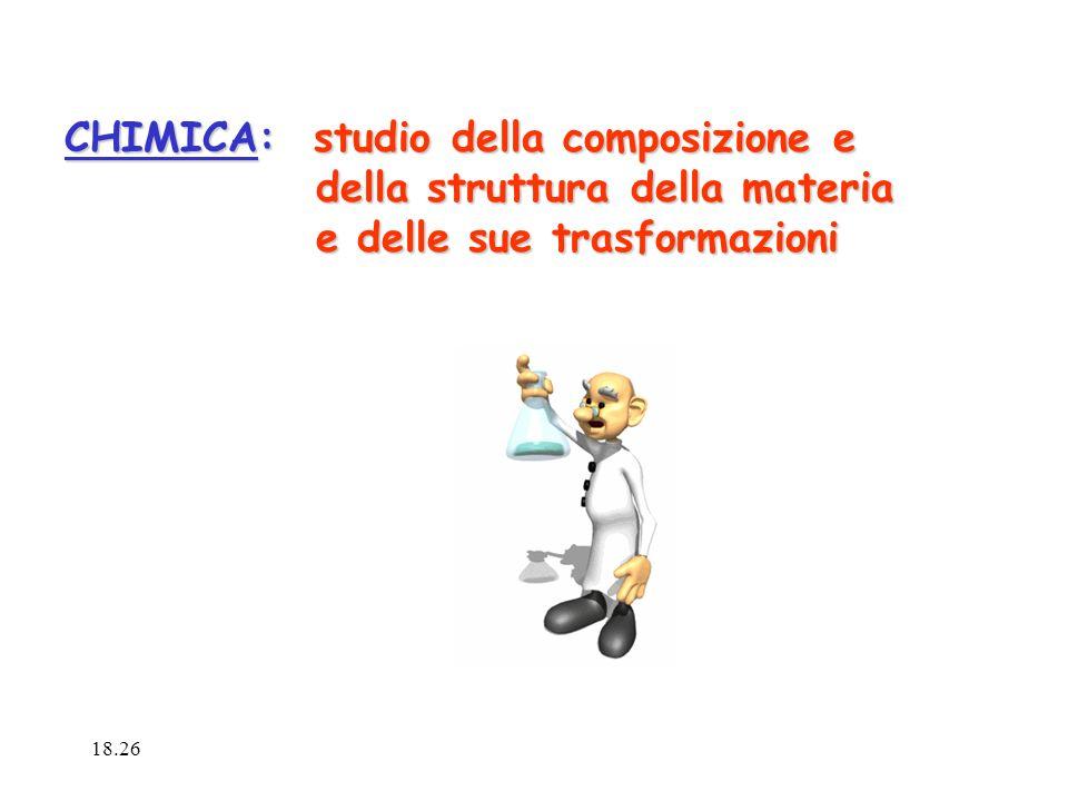 CHIMICA: studio della composizione e della struttura della materia