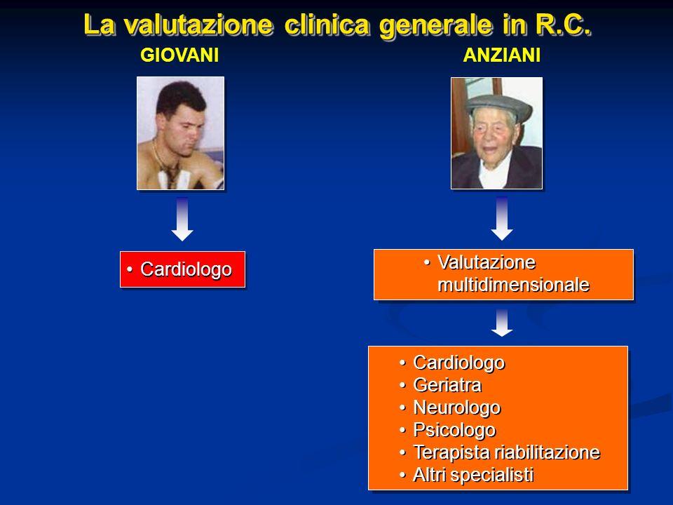 La valutazione clinica generale in R.C.