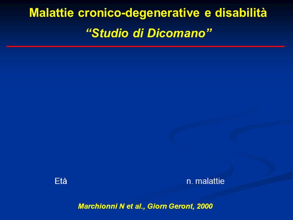 Malattie cronico-degenerative e disabilità