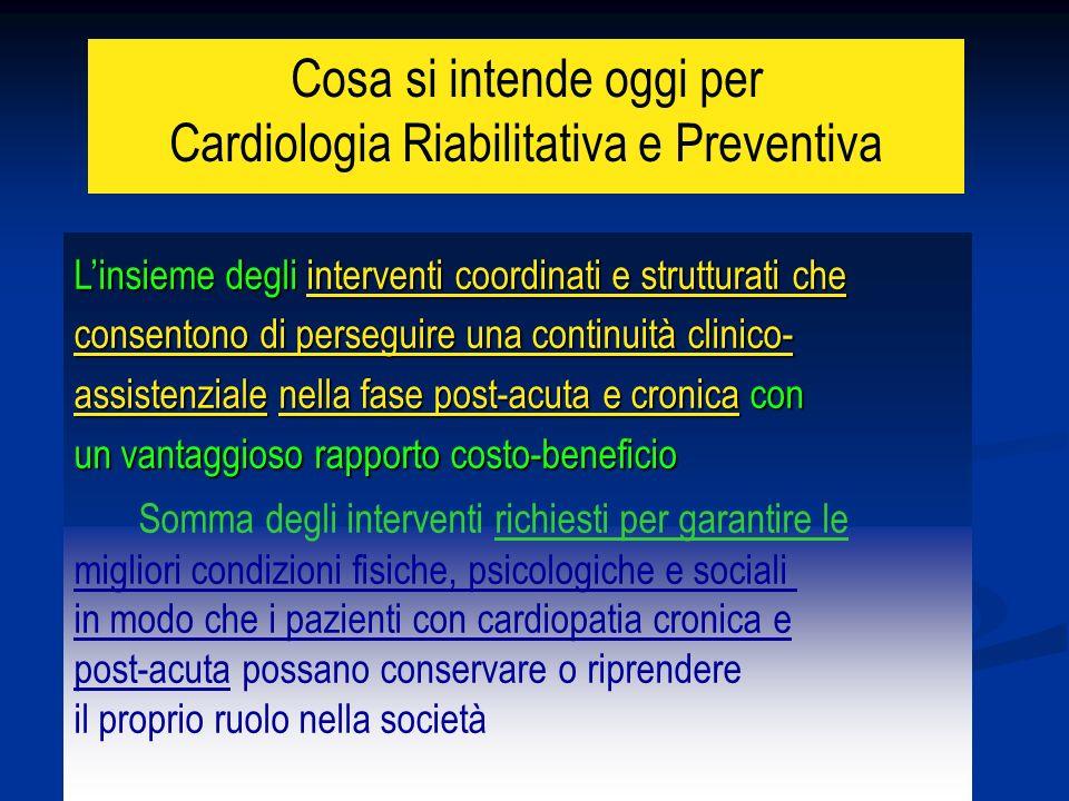 Cosa si intende oggi per Cardiologia Riabilitativa e Preventiva