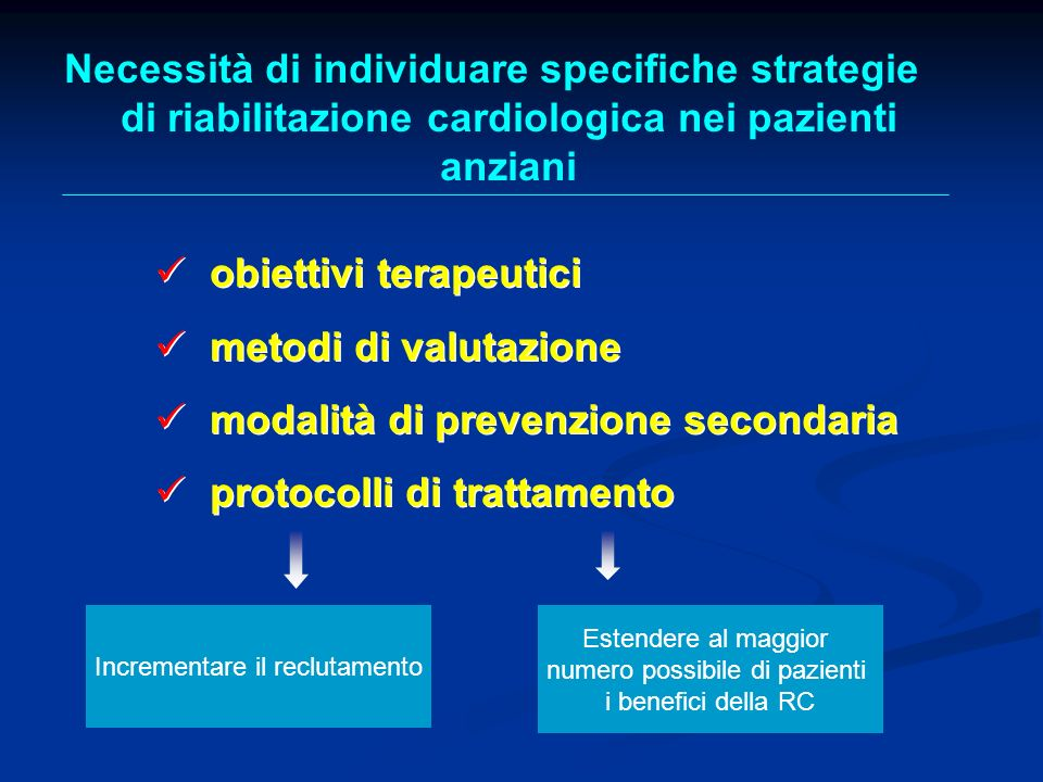 Necessità di individuare specifiche strategie