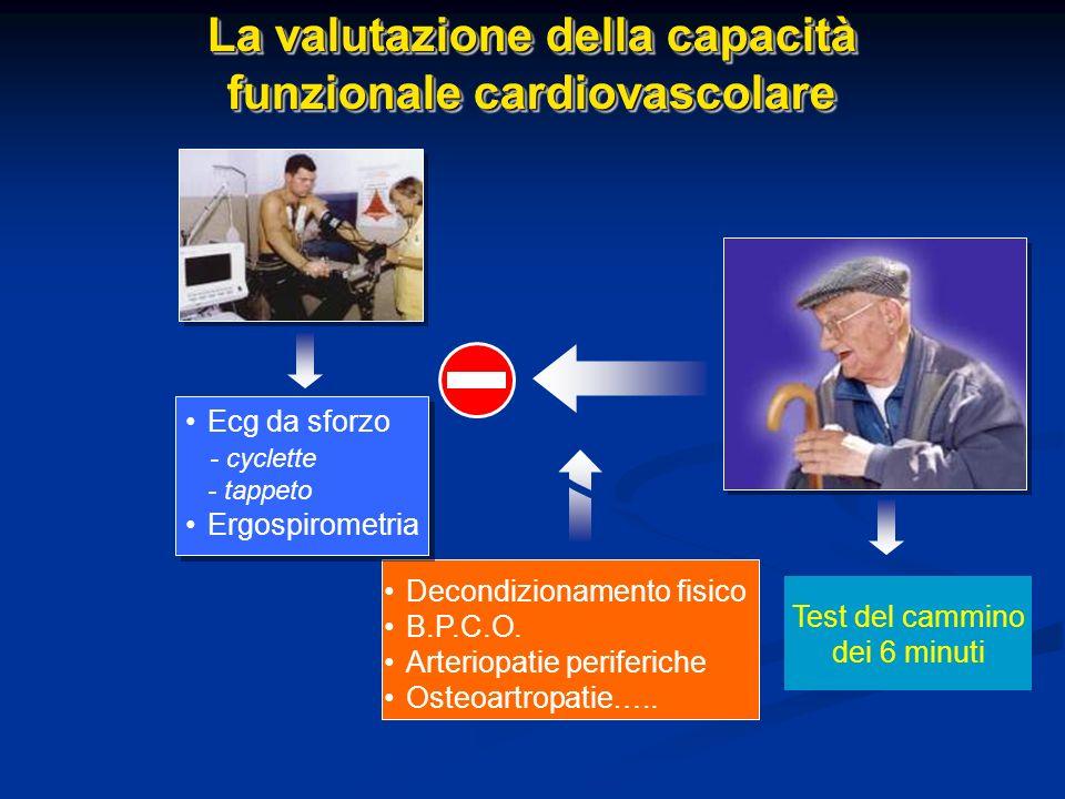 La valutazione della capacità funzionale cardiovascolare