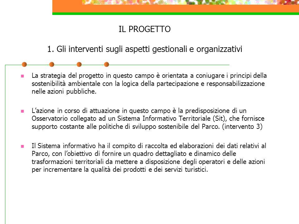 IL PROGETTO 1. Gli interventi sugli aspetti gestionali e organizzativi