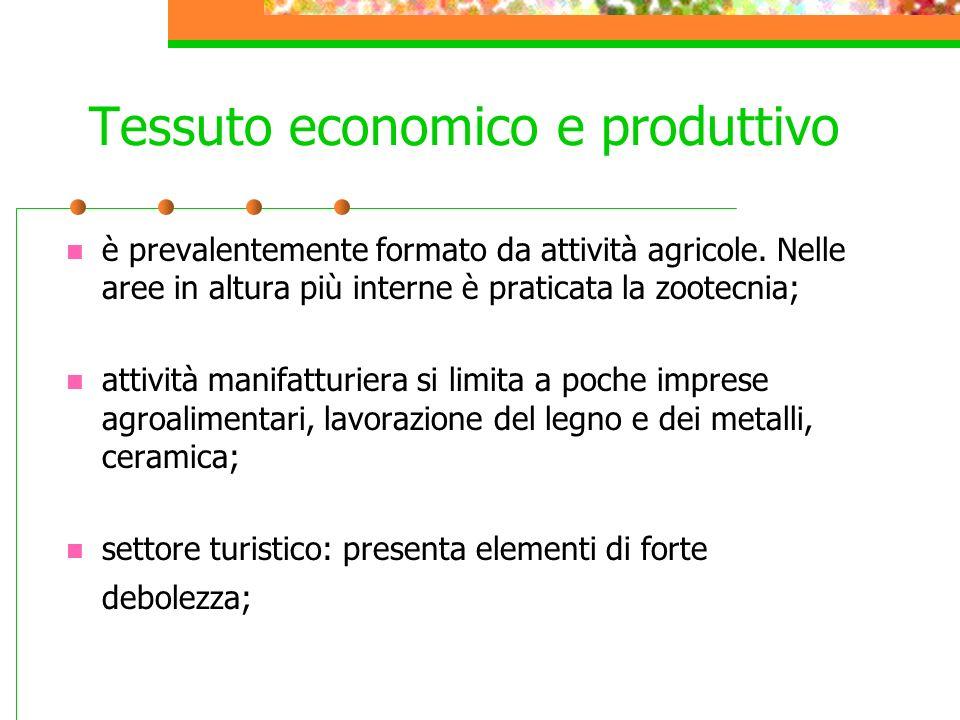Tessuto economico e produttivo