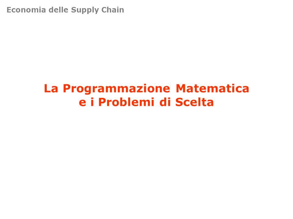 La Programmazione Matematica e i Problemi di Scelta