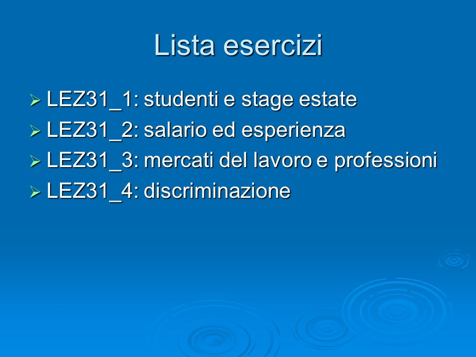 Lista esercizi LEZ31_1: studenti e stage estate