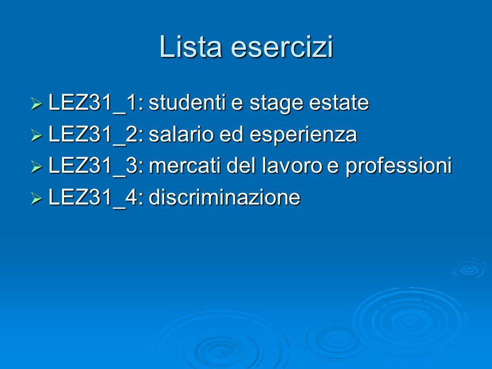Lista esercizi LEZ31_1: studenti e stage estate