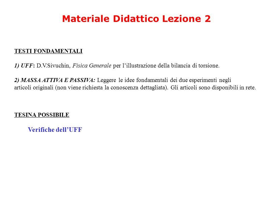 Materiale Didattico Lezione 2