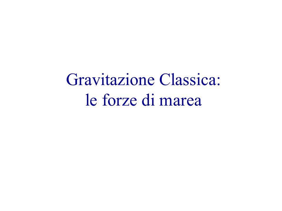 Gravitazione Classica: le forze di marea