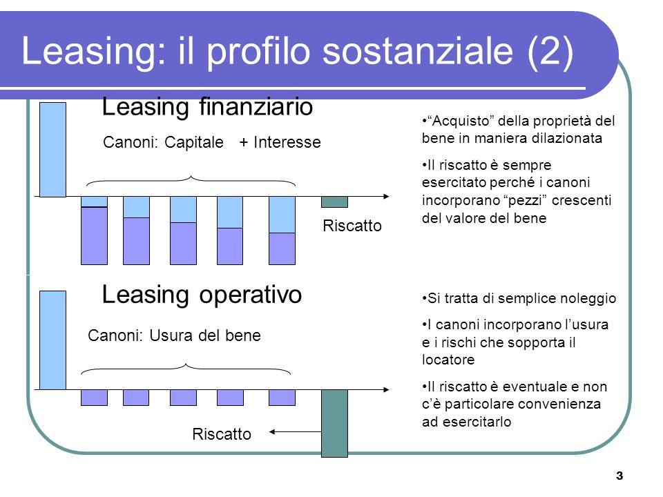 Leasing: il profilo sostanziale (2)