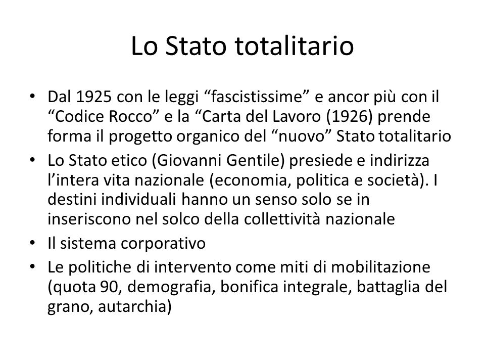 Lo Stato totalitario